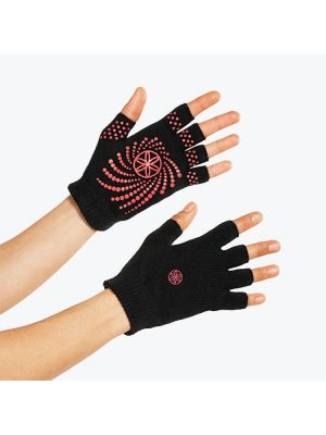 Gaiam Grippy Yoga Gloves Pink Dots Version jooga kindad