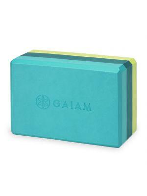 Gaiam Teal Tonal Tri-color joogablokk