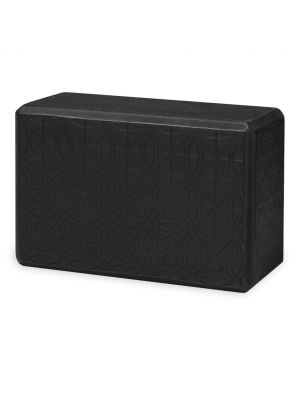Gaiam Embossed Black joogablokk