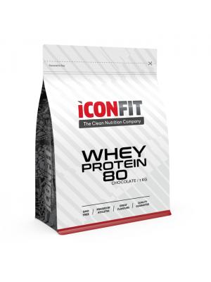 Iconfit Whey Protein 80 proteiinipulber 1kg Šokolaadi STEVIAGA