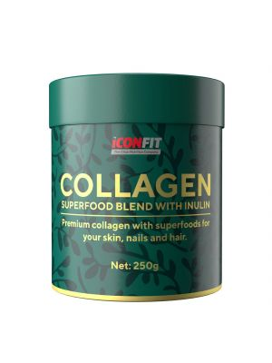 Iconfit Collagen Superfoods + Inulin supertoidusegu smuutisse 250g Vaarika-Mustsõstra