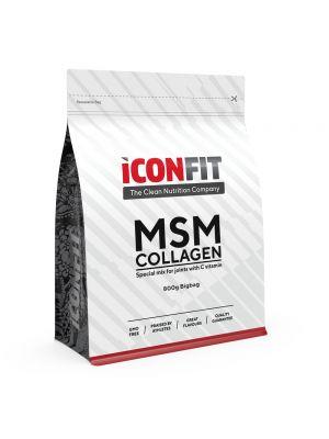 Iconfit MSM Kollageen + Vitamiin C - Liigestele, 800g Apelsini