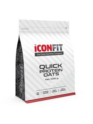 Iconfit Quick Protein Oats puder 1kg Mustsõstra
