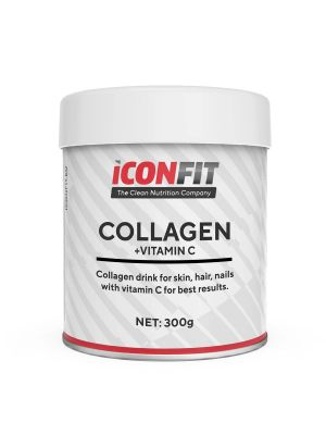 Iconfit Kollageen + Vitamiin C - Nahk, Küüned, Juuksed 300g Maitsestamata