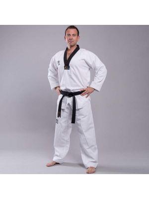 Wacoku Ribbed Black taekwondo kimono