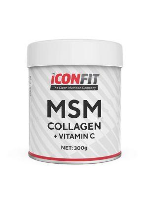 Iconfit MSM Kollageen + Vitamiin C - Liigestele, 300g Apelsini