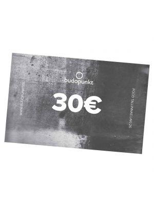 30€ Budopunkti kinkekaart