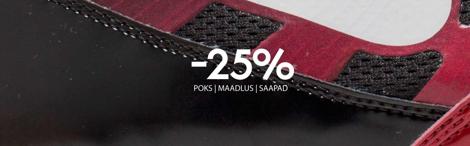 POKSISAAPAD JA MAADLUSSAAPAD -25%